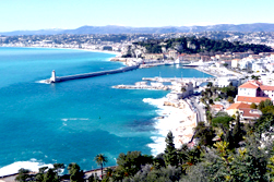 View from Mont Boron, Lympia, Nice France
