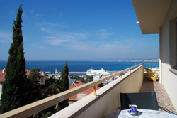 Sea view from Panoramic, vacation apartment, Nice France